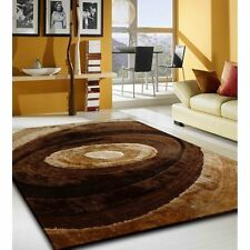 BROWN LIVING SHAG STUDIO MULTI COLOR HAND CURVING AREA RUG