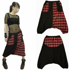 Hip Hop Dance Cross-Pants Big crotch Sweatpants Plaid Patchwork Sports Trouser