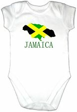 JAMAICA Map Flag Baby Grow Gro Vest Babygro All in One Bodysuit Shirt Jamaican