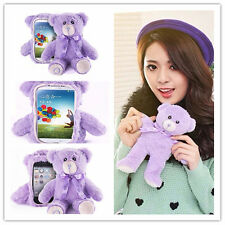 Cute 3D Lavender Bear Doll Toy Plush Case Cover For Various Samsung Phones