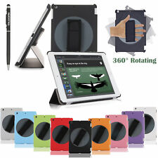 Rotating 5 in 1 Handheld Case Cover For New Apple iPad W/Adjustable Hand Strap