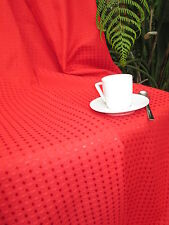 LUXURY TABLECLOTH PIAZZA RED - RECTANGLE - SUPER LARGE SIZES - DINING ROOM