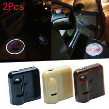2x 3D LED Door courtesy Shadow Car SUV Auto logo Welcome light No Drill Wireless