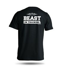 Beast In Training T-Shirt - Gym Exercise Workout Shirt 100% Cotton Tee S M L XL