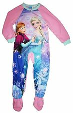 NWT Disney Girl's Frozen Footed Blanket Sleeper 1 piece Pajama Pink