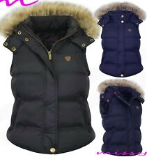NEW PADDED Ladies Hood Fur WINTER COAT Womens Jacket Size 8 10 12 16 Quilted sim