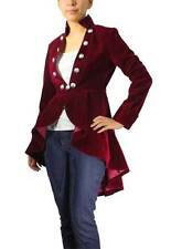 Velvet Deluxe Jacket Burgundy Red Coat Jacket Victorian Gothic Goth Steampunk
