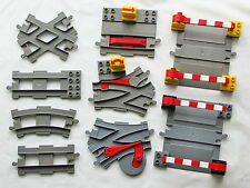 Track Selection Lego Duplo Railway Curved Crossing Straight Points Barrier