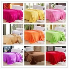 Sofa Bed Soft Coral Fleece Blanket Flannel Bedding Article Solid Color 150*100cm