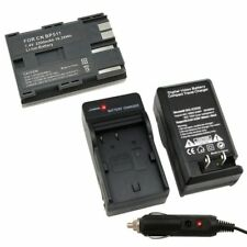 BP-511 Battery & Car Wall AC Charger Set For Canon 30D 50D PowerShot G1 G2