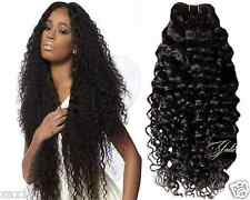 Virgin Peruvian CURLY wave Remy Human Hair Weave Extension Unprocessed Bundle