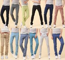 Fashion Men's Skinny Jeans Denim Pencil Pants Slim Pants Mid-rise Long Trousers