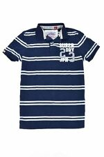 New Mens Superdry SD 23 Japan Applique Twin Stripe Polo T-Shirt Eclipse Navy