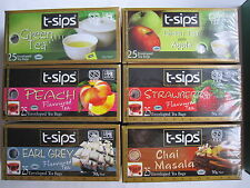 2 packs of Quality Flavoured Ceylon 25 Tea Bags 100g by t-sips from Sri Lanka UK