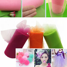 """25 Color TULLE Roll Spool 6""""x100yd Tutu Wedding Gift Craft Party Bow 6""""x300'"""