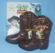 Disney Toy Story Light-up Boots New Size 10 11 12 Toddler Youth Woody Bullseye
