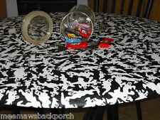 Made In USA Halloween Ghost Oval or Round Vinyl Fitted Dining Tablecloth Patio
