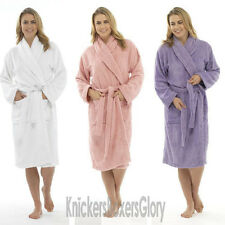 Womens/Ladies Cotton Towelling Bath Robe/Dressing Gown/Wrap NEW Size S, M, L