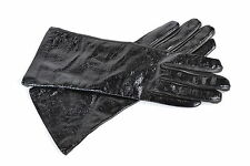 Yves Saint Laurent YSL Women's Patent Leather Gloves Black