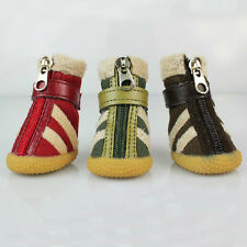 New Cute Cozy Color Fur Snow Boots Shoes For Small Large Dog Puppy Apparel 1#-5#