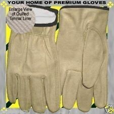 Winter Lined Thermal Insulated Premium Drive Work Cowhide Leather Glove SALE 1P