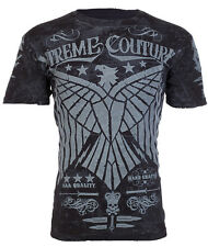 Xtreme Couture AFFLICTION Mens T-Shirt CONNECT Eagle BLACK Tattoo Biker UFC $40