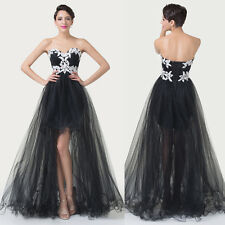 BIG SALE~Sweetheart Masquerade Party Gown Prom Wedding High-Low Evening Dress