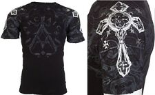 Archaic AFFLICTION Men T-Shirt WORLD HERO Cross Tattoo Biker MMA UFC M-3XL $40 a