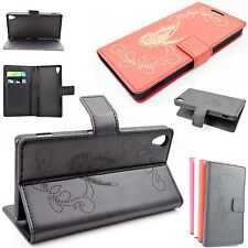 Flip PU Leather Skin Stand Wallet Phone Protector Covers Case For Sony Xperia Z2