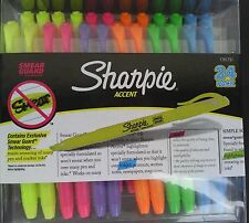TWO SHARPIE ACCENT HIGHLIGHTERS Smear Guard Pocket Clip SELECT: TWO COLORS