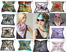 "New Womens Big Square Silk-like Satin Large Scarf Wrap 35""*35"" Printing shawl"