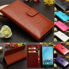Luxury Magnetic Filp Leather Wallet Card Slot Holder Case Cover Stand For Phone