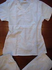 831 New Fashion Scrub Top and Pants for Nurse Uniform Scrubs Set White S M L XL