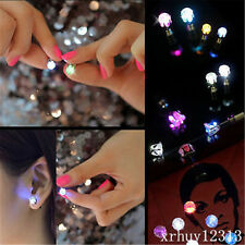 Alluring Unisex Light Up LED Studs Bling Earrings Ear Accessories Party Jewelry