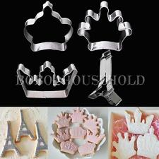 Stainless Steel Crown Tower Biscuit Cake Fonant Mold Metal Baking Cookies Cutter