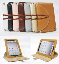Ultra Slim Genuine Leather 360 ROTATING STAND Case/Cover for Apple IPAD 234 mini