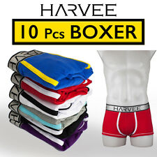NEW 10 PCS Male's Boxer Underwear HARVEE Cotton Trunk Brief Short Undies CK2016B