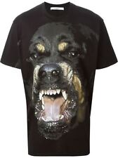Authentic New Mens Givenchy Cuban Slim Fit Rottweiler T Shirt S/M/L/XL/XXL AW/15