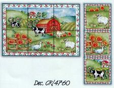 The Farm Tiles Decorative Panels Accents Different Sizes Hand Made in UK CR4760
