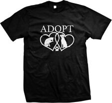 Adopt- Cat Dog Heart- Rescue! Great Dog/Cat Lovers Shirt! Mens T-shirt