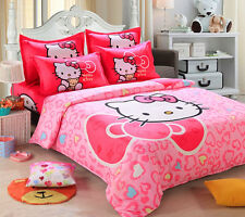 Hot Hello Kitty Girls Bedding Set  Cotton Bed Set 12 Diffrent Styles Sizes