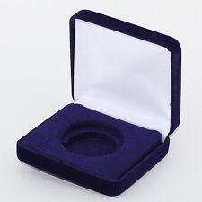 "Presentation Blue Velvet Display Box Case for Model ""I"" Airtite Coin Holders"