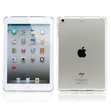 Transparent Clear Snap On Hard TPU Case Cover Skin For Apple iPad Mini 1 2 3 Gen