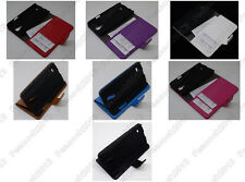 Multi Color Leather Cover Flip Case HOLDER WALLET For Samsung Galaxy S4 MINI