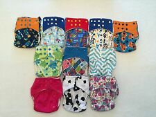 Happy Flute One Size (OS) All-In-Two/Pocket Cloth Diapers with Snap-In Inserts