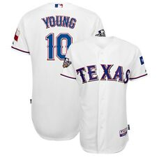 Michael Young 2010 Texas Rangers Authentic World Series Home Cool Base Jersey