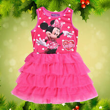 Baby Kids Girls Minnie Mouse Bowknot Cosplay Tutu Dress Age 0-5 Years