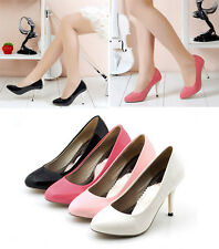 Ladies Womens Slim High Heel Pointed Toe Party Pumps Shoes UK Size 1.5-12 D473
