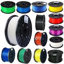 3D Printer Filament 1.75mm PLA/ABS 1kg/2.2lb/130g Makerbot Mendel Reprap US UP