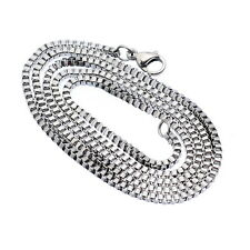Wholesale lots Stainless Steel Silver Tone 2mm Box Chain Necklace 51cm